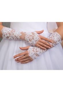 Перчатки №91 белые и шампань