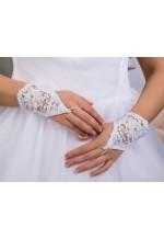 Перчатки №15 белые и айвори