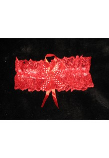 Подвязка голубая, красная, розовая